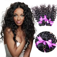30 inch hair extensions - 30 off Human Hair Bundles Wet And Wavy Virgin Brazilian Hair Brazilian Virgin Hair Water Wave Curly Hair Extensions Hair Weaving