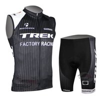 Wholesale New TREk sleeveless Cycling Jersey cycling clothing cycling wear bicycle clothing Bib shorts set breathable quick dry S XL
