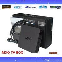 Wholesale 20PCS Original MXQ Android TV BOX Amlogic S805 Quad Core G G IPTV Android Kitkat with KODI better than MX M8 CS918