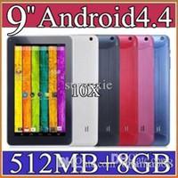 Cheap 10X cheap Quad Core 9 inch A33 Tablet PC with Bluetooth flash 512MB RAM 8GB ROM Allwinner A33 Andriod 4.4 1.5Ghz 1-9PB