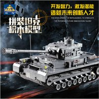 Wholesale construction eductional toy plastic Building Blocks bricks sets German armored military tank model F2 classic Toys gift for kid