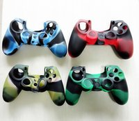 Wholesale Four styles Mix Camo Silicone Rubber Duable Protective Case Skin Grip Cover For Playstation PS4 Controller