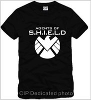 Men anti agent - Men s Clothing color Marvel Agents of Shield tee t shirt S H I E L D tshirt eagle logo short sleeve t shirt camisetas