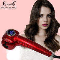 Wholesale High quality MOQ New Hair Styler Showliss Pro LCD Hair Curler Automatic Universal Voltage Perfect Effects Short Time No Damage for Hair