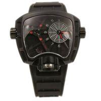 Cheap NEW Mens Watches 4x Slower Faster Time Big Bang Men's Watch Quartz Movement Full Black Rubber Strap Folding Clasp Man Wristwatches