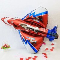 air fighter planes - Happy Birthday Big Planes Aluminum balloon for Holiday Decoration festa Cartoons party ballons helium air Fighter baloes