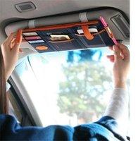 Organizador de coches 3 colores autos del coche multiusos de bolsillo punto parasol colgando bolsa de almacenamiento de lona para la tarjeta de crédito teléfonos celulares tarjeta de visita