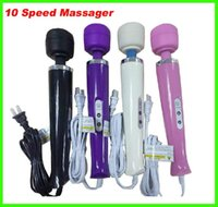 Wholesale 2014 hot selling Speed Magic Wand Massager AV Vibrator With speed Hitachi Wand Wand Massager Sex Toys for Woman