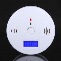 Wholesale High Quality LCD Carbon Monoxide Detectors CO Carbon Monoxide Poisoning Sensor CO Monitor Alarm Detector White order lt no track