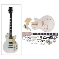 Wholesale Hot High Quality DIY Electric Guitar Kit Mahogany Body Rosewood Fingerboard Nickel Alloy String DHL I1134