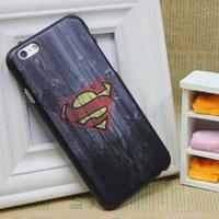 wood - New Hero Super Man Wood Pattern Skin Hard Plastic Back Cover Cell Phone Case For Apple iPhone iPhone Plus