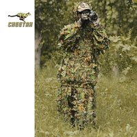 Wholesale outdoor jungle camouflage Ghillie suit bionic tactical Airsoft Sniper secret safari hunting camouflage clothing