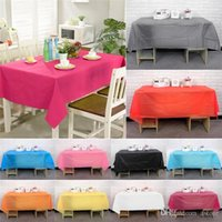 Wholesale New Arrivals Colorful Rectangle PVC Plastic Replaceable Tablecloth Table Cover CM For Picnic Dinner Party etc JN4