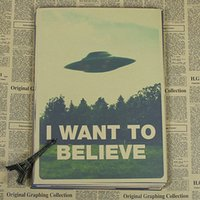 believe painting - Sun86 X FILES I WANT TO BELIEVE Vintage Poster Wall Paper Home Decor Cuadro Art Painting Mix Order x30CM H