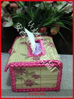 bamboo made houses - Environmental bamboo made tissue boxes lace decoration storage napkins boxes table decorations amp accessories for house or car