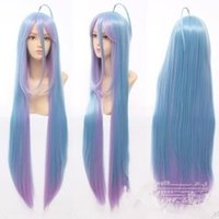 Mix Color anime wigs cheap - cheap No Game No Life Shiro cm Anime Cosplay Costume Wig free gift
