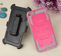 Wholesale 3 Layer TPU PC Belt Clip Holster Combo Wterproof Anti Shock Case for Apple Iphone s s plus s plus DHL Free Ship