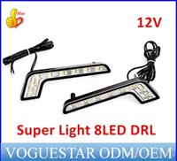 Wholesale 8 LED DRL Car Daytime Running Driving Light dropshipping super light universal type ATP015