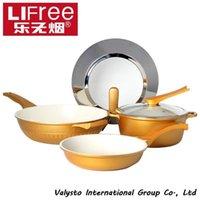 aluminum woks - Music smokeless pots and pans set non stick wok ceramic soup pot smoke flat bottom pot pots and pans