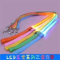 Wholesale Led Dog Leashes Dog Safety Leashes Glow LED Flashing Light Long cm Wide cm LED Dog Leashes Pet Leashes Dog Supplies Leashes Pet Light
