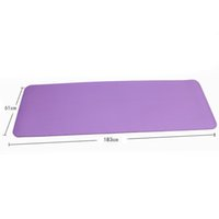 Wholesale 8 colors Yoga Mat mm Thick NBR Beginners Fitness Mat Flexible Non slip Exercise Pad CM Environmental Odorless