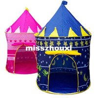 Wholesale Lovely Prince Princess Palace Castle Children Playing Toys Indoor Outdoor Tent Kids Play toy tents