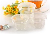 Wholesale Disposable jelly pudding cup plastic cup double peel milk cup curry cup