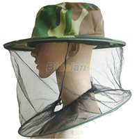 Wholesale Fashion Mosquito Cap Women Men Midge Fly Insect Bucket Hat Fishing Camping Field Jungle Mask Face Protect Cap Mesh Cover D7