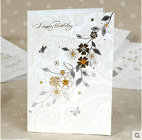 beautiful birthday wishes - Stock Korea High End Happy Birthday Gift Greeting Cards Blessing Cards Best Wish Cards Beautiful Design