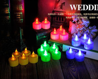 Wholesale Electronic candle lamp LED Candles Light Flashing Flameless Colorful candle Light Candle Lamp Wedding Valentine s day candle Light