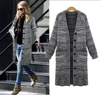 Wholesale Cardigans NEW Women sweater Fashion knit sweaters jacket long casual dress knitted clothing