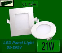 Cheap 21W Led Panel Light Round and Square Shape 110v 220v downlight SMD2835 ceiling light Warm White Cool White, Free Shipping