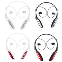 Wholesale New HBS HBS bluetooth headset sports neckband stereo bluetooth headphones earphones with handsfree for samsung iphone