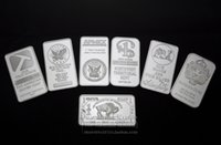 Wholesale Mixed set one troy ounce fine silver Plated PAN AMERICAN Sunshine Silver Towne SILVER Bullion Bar souvenir coins