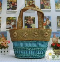 bali grass - A single export manufacturers selling Bali Island romantic style hollow heart grass straw bag bag