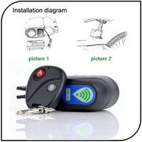 Wholesale Wireless Bicycle Motorbike Moped Alarm System ABS Black Anti theft Security Alarm System Remote Control Hot Sale YG149