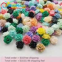 Wholesale Min order mm mixcolour resin rose flower resin flower Mixed colors Flowers Cabochons Cameo DIY198
