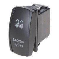backup light switch - 3 Pin SPST ON OFF Dual Orange LED Indicator Laser Etched Backup Lights Rocker Switch CEC_930