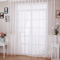 Wholesale The Best Price For Elegant Floral Tulle Voile Door Window Curtain Drape Panel Sheer Scarf Valances