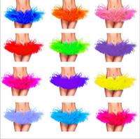 Wholesale 10 Color Adults Women Tutu Dress Ballet Dance Wear Mini Short Skirt Dance Costume Ball Gown Stage Wear Pettiskirt Dance Skirt LJJE382