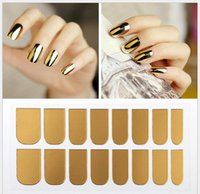 Wholesale New Nail polish nail sticker decals All post euramerican Angelababy gold and silver black metal post