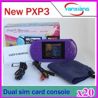 2.7 inch portable games video - 20pcs Inch bit video game player PXP3 Portable Handheld Game Console Dual sim Card ZY PXP3
