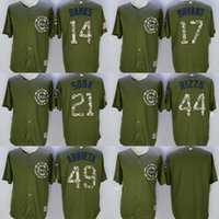 green army men - 2016 new Chicago Cubs Army Green Salute To Service Jersey Kris Bryant Sammy Sosa Anthony Rizzo Jake Arrieta Stitched S XL