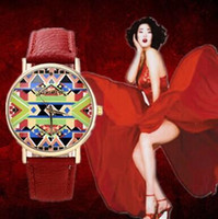 beautiful steel wristwatch - 2015 Women casual Fashion Wristwatch Quartz Leather Colorful watch high quality Round dial Watches For Female Beautiful Clock