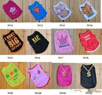 Wholesale Small Pet Dog Clothes T Shirt shirts Dress Vest Type mix order CH