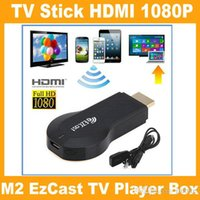 Wholesale New M2 EzCast TV Stick HDMI P Miracast DLNA Airplay WiFi Display Receiver Dongle Support Windows iOS Andriod V762