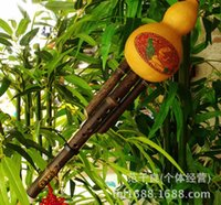 Wholesale Chinese national musical instruments quality bamboo hulusi in natural color