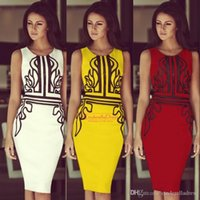 Reference Images embroidery work - Hot Plus Size Summer Pencil Skirt Work Dresses Sexy Sheath Mini Red yellow Cusual Club Party Gowns For Women Cheap Business Dress OXL141127