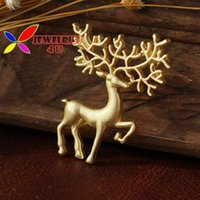Wholesale 2015 brooches pins hot fashion vintage designer cute matt gold silver metal deer costume jewelry accessories for women broches
