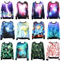 Wholesale Hot Autumn Designer Fashion Women Hoodies Clothing Fantasy Coloful Galaxy Sweatshirt Styles Drop Shipping